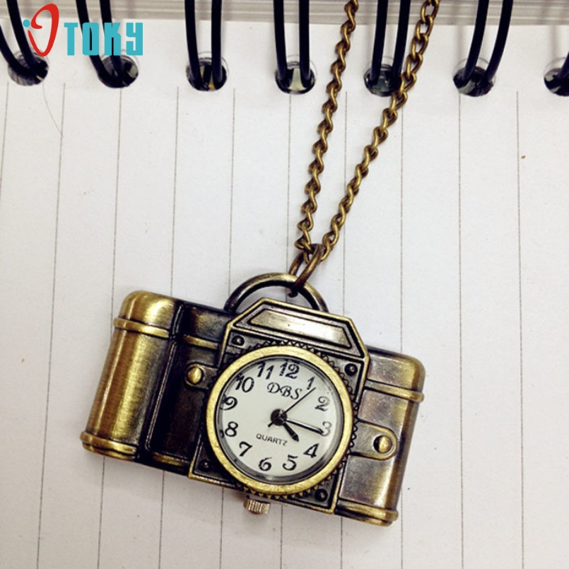 Excellent Quality Pocket Watch 2017 New Retro Unisex Antique Bronze Camera Design Pendant Pocket Watch Necklace For Gift Jan-05