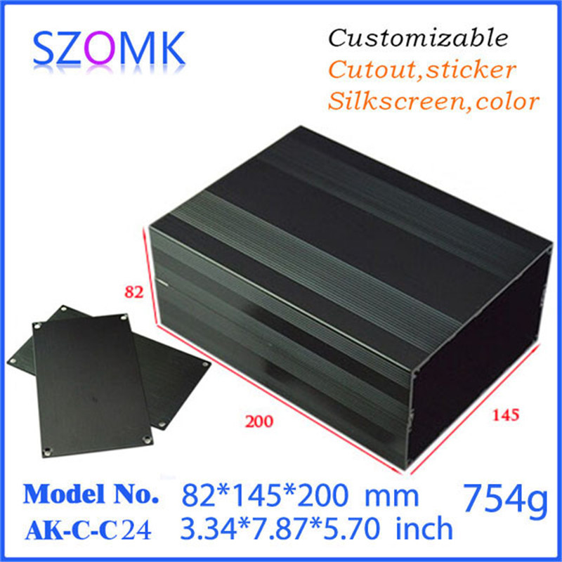 szomk eleroic aluminum box distribution enclosure 4 pcs 82 145 200mm aluminum box for electronic project