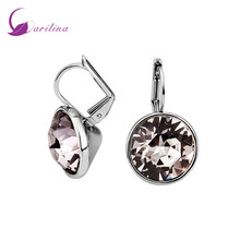 Ravishing Earrings Silver White Cubic Zirconia Clip earrings fashion jewelry for women E2021(China)