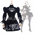 NieR:Automata 2B YoRHa No. 2 Type B Heroine Dress Cosplay Costume + Gloves
