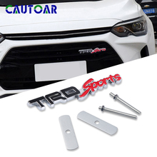 3D Metal TRD SPORT Off Road Car Front Grille Emblem Badge Sticker For Toyota Estima Harrier Alphard TRD Car Accessories