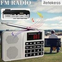 AM/FM радио Retekess TR603 коротковолновый транзистор Цифровая настройка приемник MP3-плеер Поддержка tf-карты литий-ионная аккумуляторная батарея