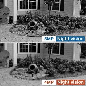 Image 5 - Techage 4CH 5MP POE NVR System kamer IP AI ludzki wykryty dwukierunkowy dźwięk bezpieczeństwo zewnętrzne zestaw kamerowy wideo CCTV zestaw do nadzorowania