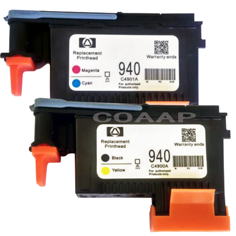 2pk Printhead For Compatible HP 940 C4900A C4901A Officejet Pro 8000 A809a A809n A811a 8500 A909a A909n A909g 8500A A910a A910g
