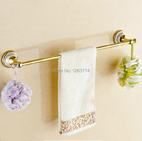 Free Shipping Wall Mounted Golden Polished Finish Bathroom Accessories Towel Bar Towel Rack OG 27824C