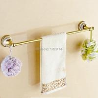 Free Shipping Wall Mounted Golden Polished Finish Bathroom Accessories Towel Bar Towel Rack OG 27824C
