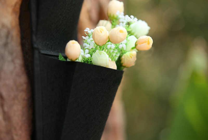 4 кармана вертикальные сумки настенные плантаторы настенные Висячие домашние садоводства выращивать цветок посадки жизни Крытый сад DTT88