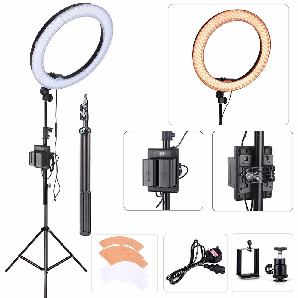 18 EACHSHOT ES240 Kit Photography Photo Studio 240 LED Ring Light 5500K Dimmable font b Camera