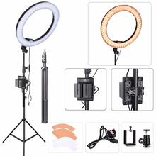 18″ EACHSHOT ES240 Kit Photography/Photo/Studio 240 LED Ring Light 5500K Dimmable Camera Ring Video Light Lamp With Lamp Tripod