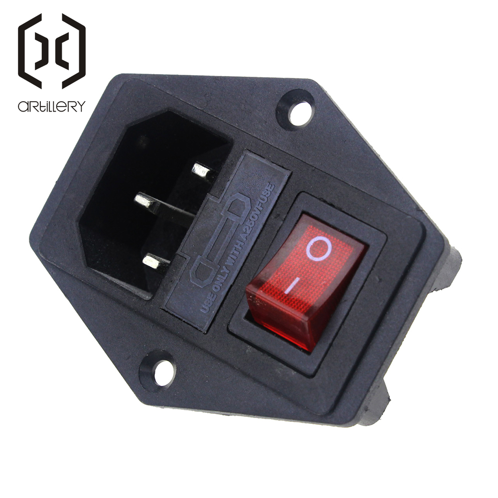 15A 250V Power Switch AC Part For Makerbot For Ultimaker 3 in 1 Fuse Supply Socket 3D Printers Parts