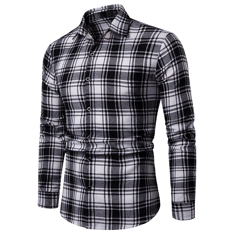 2019 men 39 s fashion new long sleeved shirt men 39 s plaid classic casual and comfortable casual button shirt men 39 s shirt in Casual Shirts from Men 39 s Clothing