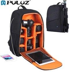PULUZ Outdoor Portable Waterproof Scratch-proof Dual Shoulder Camera Backpack Camera Bag Digital Photo Video DSLR Bag&Rain Cover