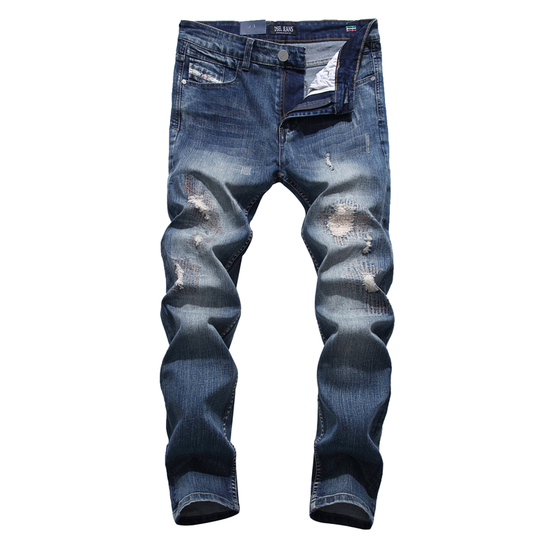 Patch Jeans Men Slim Skinny Denim Blue Jeans Ripped Trousers Famous Brand Dsel Jeans Elastic Pants Star Mens Stretch Jeans W701 patch jeans ripped trousers male slim straight denim blue jeans men high quality famous brand men s jeans dsel plus size 5704
