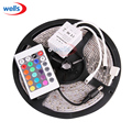 5M 3528 RGB Waterproof Car Strip 300 LED Light + 24key IR remote controller