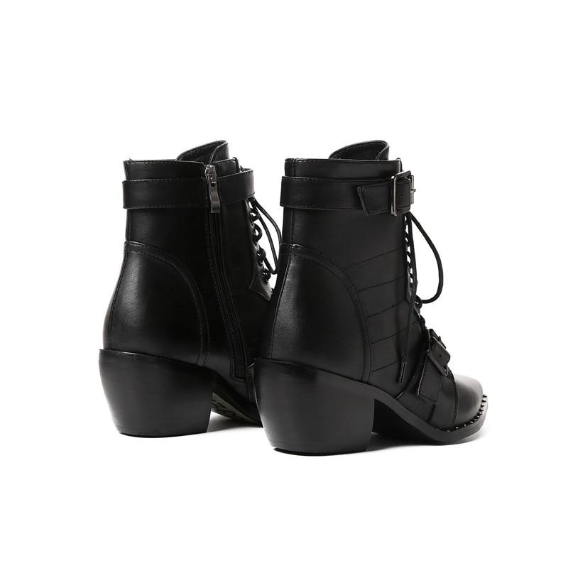 Pu black Bottes Nouvelle Chaussures 34 Grande Short En Vache Cheville Spéciale Offre Femmes Cuir Black Plush Taille Talons Marque 42 Chunky Femme Western wRWE6xq8H
