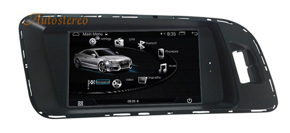 Android Car no DVD player GPS Navigation Autostereo radio For AUDI A4 A5 Q5 2009 2015 multimedia radio tape recorder touch scree