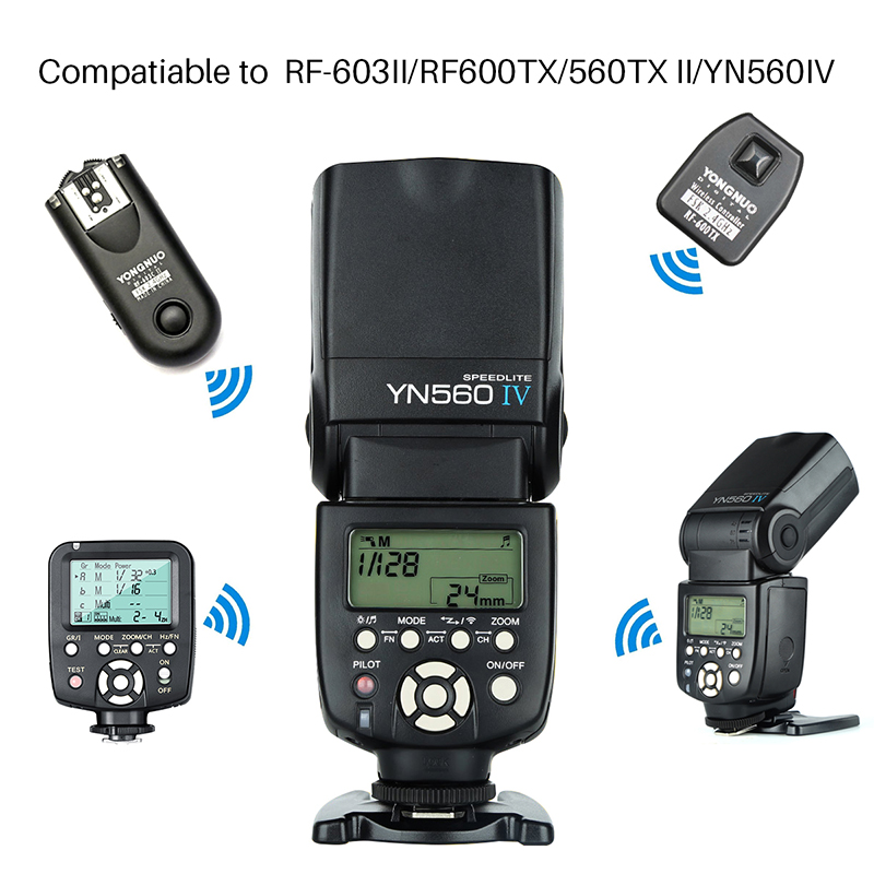 Yongnuo YN 560 IV YN560IV YN-560IV Wireless Master Slave Flash Speedlite for Canon 650D Nikon D7100 D5300 Sony Pentax Olympus yongnuo yn 560 iv master radio flash speedlite rf 603 ii wireless trigger for nikon d800 d7100 d610 canon 5div 650d camera