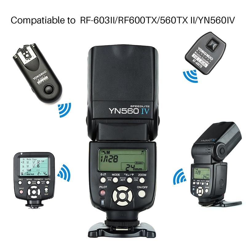 Yongnuo YN 560 IV YN560IV YN-560IV Wireless Master Slave Flash Speedlite for Canon 650D Nikon D7100 D5300 Sony Pentax Olympus