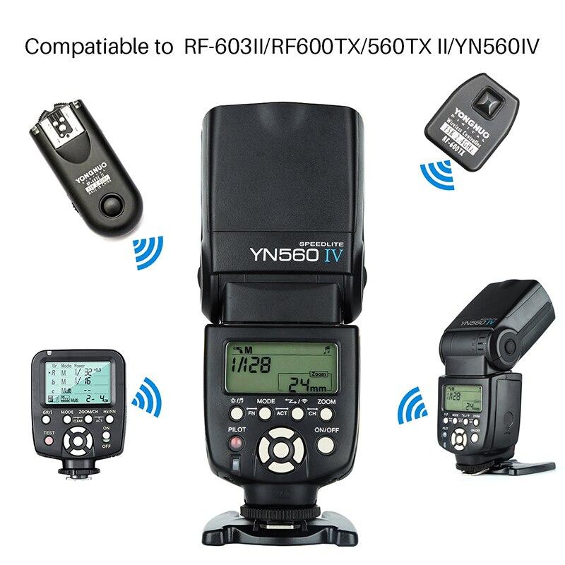 Yongnuo Speedlite YN 560 IV YN560IV YN-560IV inalámbrico Maestro Esclavo Flash Speedlite Canon 650D Nikon D7100 D5300 Sony Pentax Olympus