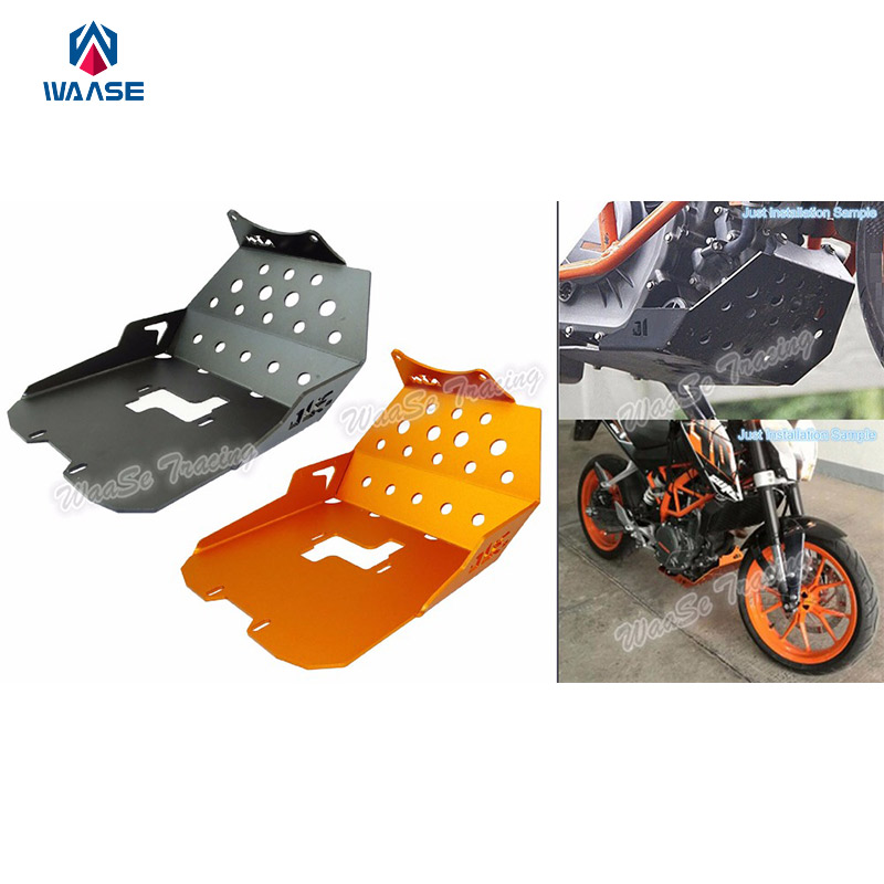 Motorcycle Skid Plate Foot Rests Bash Frame Guard Engine Protector For KTM Duke 250 2015 2016 / Duke 390 2013 2014 2015 2016 motorcycle rear brake master cylinder reservoir cove for ktm duke 125 200 390 rc200 rc390 2012 2013 2014