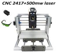 2 In 1 Mini Cnc Milling Machine Cnc 2417 With 500mw Laser Head Laser Cutter Russia