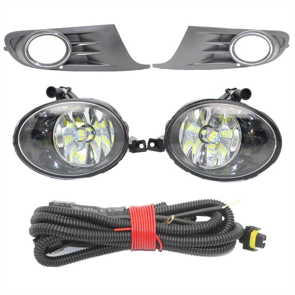 Untuk Golf 6 A6 MK6 2009 2010 2011 2012 2013 Car Styling LED Depan Lampu Kabut Kabut Lampu + grille + Wire Harness Assembly