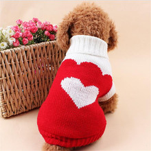 Warm Sweaters for Small Dogs Lovely Heart Strawberry Pattern Dog Clothes Winter Sporty Dog Sweaters 3435