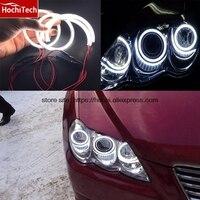 HochiTech Ultra bright SMD white LED angel eyes halo ring kit daytiem running light DRL For Toyota Mark X Mark X REIZ 2004 2009