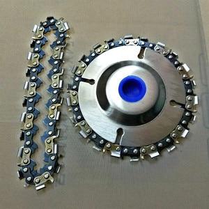 Image 3 - 4 inç ahşap oyma disk kesim zinciri 22 diş taşlama diski ince testere seti w/ 2 zincirler 100/115 açı öğütücü Wooking araçları