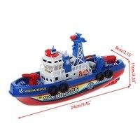 Электрическая лодка Детские морские спасательные игрушки навигационный игрушечный военный корабль подарок на день рождения