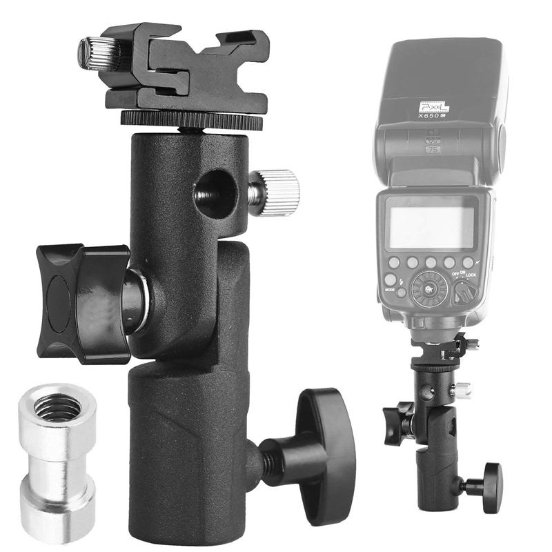 Camera Flash Speedlite MountProfessional Swivel Light Stand Light Bracket Umbrella Bracket Mount Shoe Holder E Type For C anon