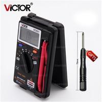 VICTOR VC921 DMM Mini Integrated Handheld Pocket Digital Multimeter Frequency Capacitance