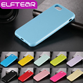 Elftear candy cor sólida ultra fino tpu capa case para iphone 7 7 plus 4.7 ''5. 5 ''silicone borracha gel macio telefone case