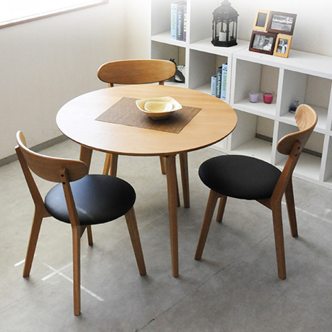 Nordic small apartment oak wood dining table dinette ...