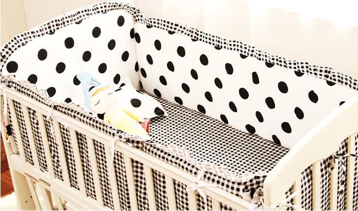 Promotion! 6PCS Baby Crib Bedding Sets Baby Nursery Bedding set Crib Bumpers Sheet (bumpers+sheet+pillow cover) простыни swaddledesigns простынь детская на резинке fitted crib sheet 140х70