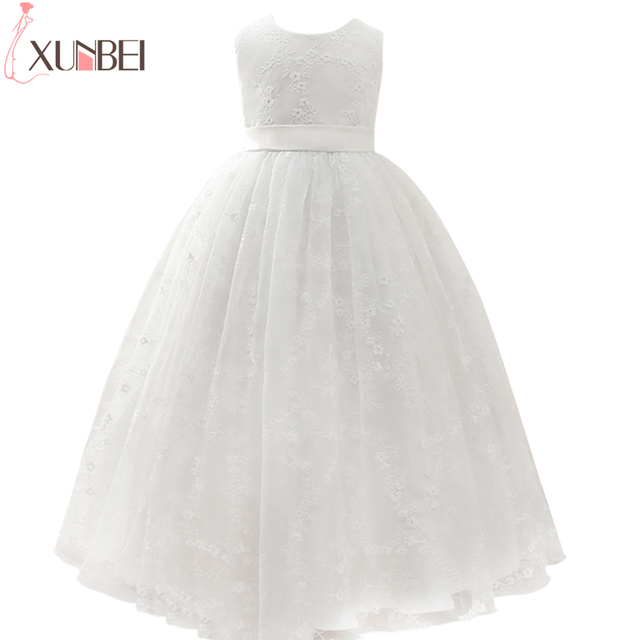 Cute Ball Gown Lace Flower Girl Dresses Sleeveless O Neck Girls Kids ...