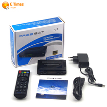 Decodificador de Tv Digital por satélite Freesat V7 HD receptor de satélite DVB-S2 completo 1080 P apoyo USB Wifi 3G Dongle youpron set top caja