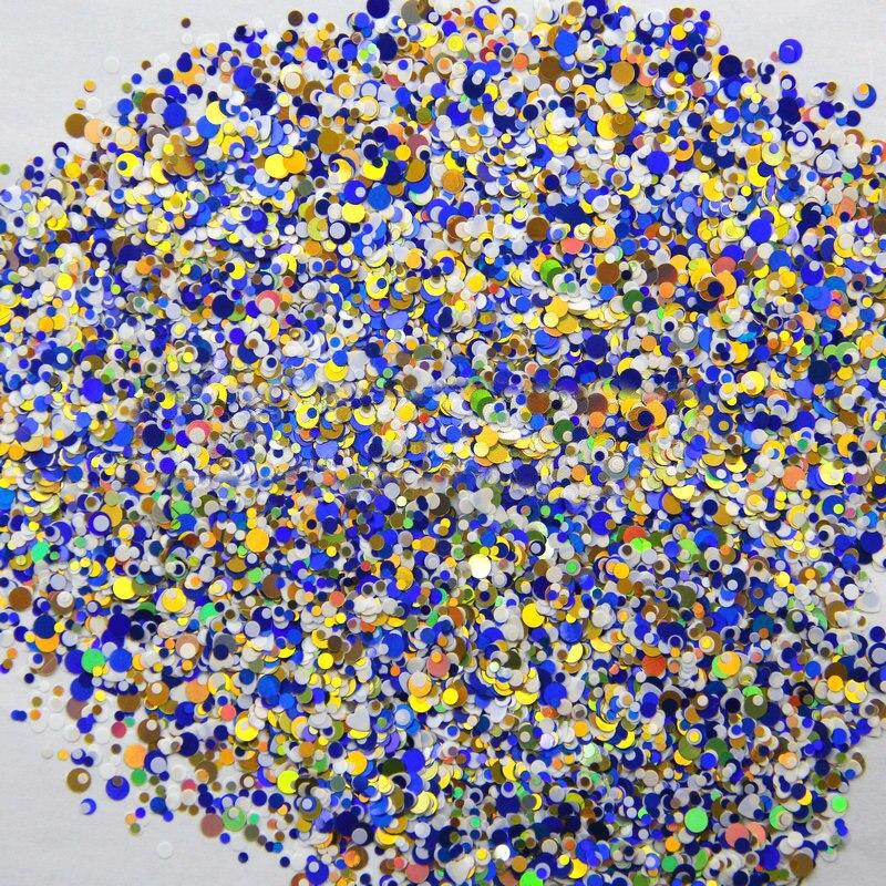 Besorgt 500 Gramm/los Glitter Blau Weiß Gold Mischfarben Runde Dot Glitter Paillette Spangle Für Nail Art Glitter 1/2/3mm Gemischt Ymp-26 Gesundheit FöRdern Und Krankheiten Heilen Schönheit & Gesundheit