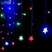 LMID LED Crutain 문자열 크리스마스 조명 야외 밤 요정 빛 휴일 파티 장식 luminarias 화환 하늘에 불빛이 나비 다드