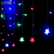 220V LED Crutain String Christmas Lights Outdoor Night Fairy Light Holiday Party Decoration luminarias Garland Luces LED Navidad
