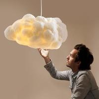 Północnoeuropejski nowoczesny żyrandol z chmurką hotel netto kawiarnia projektant żyrandol z białą chmurką w Wiszące lampki od Lampy i oświetlenie na