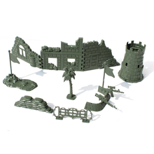 1pcs Plastic Soldier Toy Set Military Weapon Model Scene Component Figures & Accessories Playset  Model Toy For Kids Boys children s 28pcs set medieval knights warriors horses kids toy soldiers figures static model playset playing on sand castles