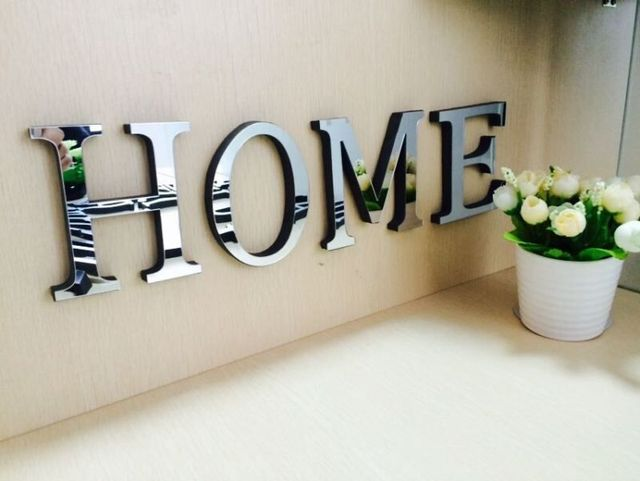 10cmx8cmx12cmthick wedding love letters home decoration With 3d letters home decor
