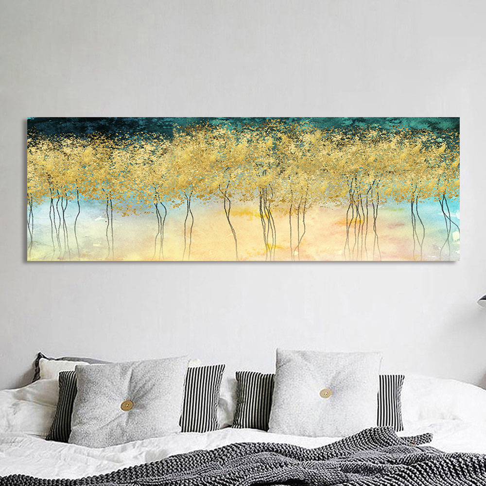 HDARTISAN Wall Art Canvas Painting Golden Abstract Picture Prints Home Decor No Frame in Painting Calligraphy from Home Garden