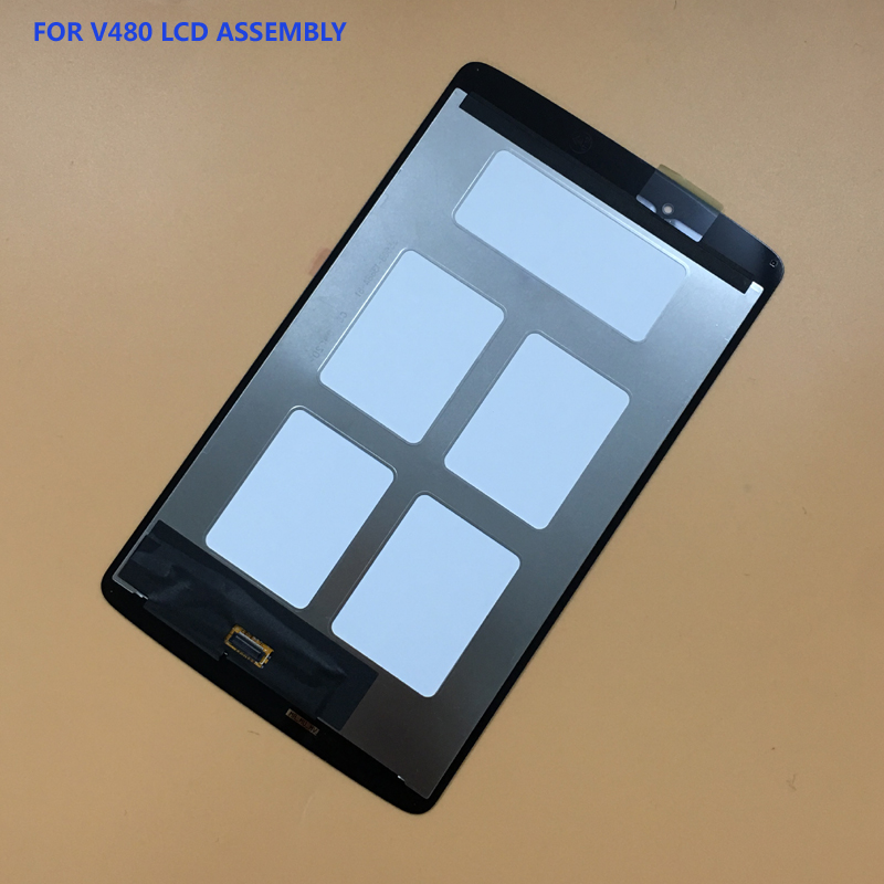цены For LG G Pad 8.0 V480 V490 Black Touch Screen Digitizer Sensor Panel Glass + LCD Display Panel Monitor Screen Panel Assembly