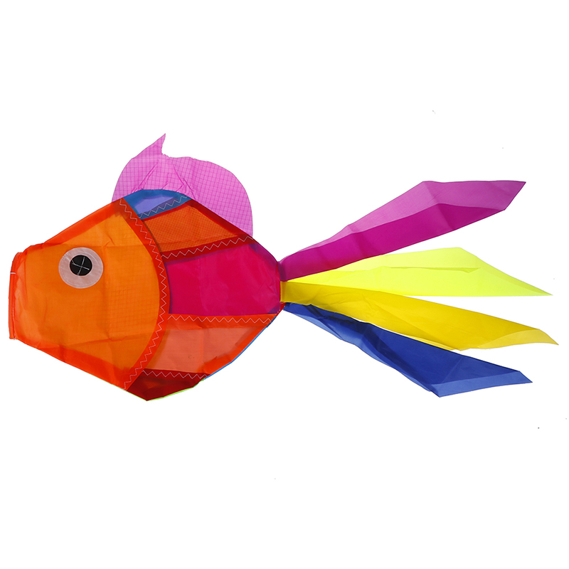 Rainbow Fish Kite Windsock Outdoor Garden Park Decor Kids Line Laundry Kits Toys