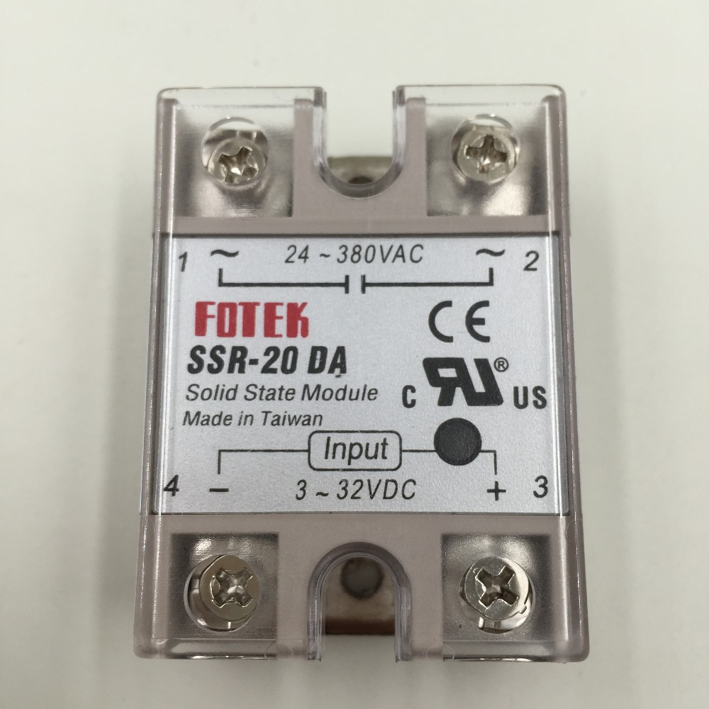 1 Pcs Dc Control Ac Solid State Relay Ssr 20a With Protective Flag German 20da Good Quality In Relays From Home Improvement On Alibaba