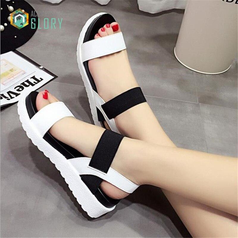 Women sandals,2016 peep-toe flat Shoes