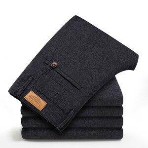 Image 3 - Брендовые классические четырехсезонные высококачественные мужские повседневные брюки HCYX 2019, мужские повседневные брюки, деловые прямые брюки, размер 38