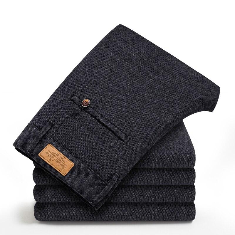 Image 3 - Бренд HCYX, 2019, четыре сезона, классические, высокое качество, мужские повседневные штаны, брюки, мужские, повседневные штаны, Бизнес Стиль, прямые, размер 38-in Повседневные брюки from Мужская одежда